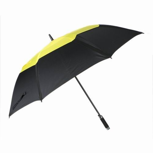 Automatic Open Double Canopy Golf Umbrella Wind Resistant Black Net Durable